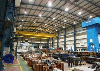 Instalación de sistema de iluminación para ICM – Grupo GESTAMP – Nave y Área de Control de Calidad