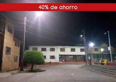Reemplazo de alumbrado público en Municipalidad de Curaco de Vélez, Chile